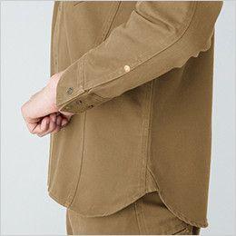 バートル 5205 ヴィンテージサテン長袖シャツ(綿100%)(男女兼用) 補強デザイン カフスアジャスター