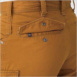 バートル 5502 綿100%チノクロスカーゴパンツ(男女兼用) サイズチップ・ピスフラップ