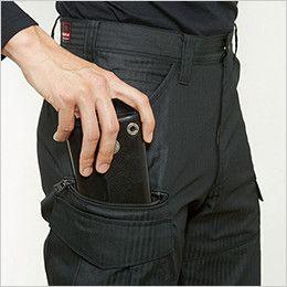 バートル 5512HB ヘリンボーンカーゴパンツ 裾上げNG(男女兼用) 長財布・レベルブック収納ポケット