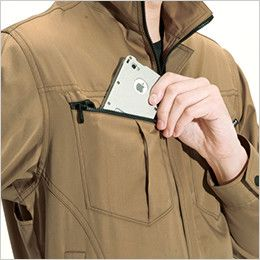 バートル 6081 [春夏用]制電T/Cライトチノジャケット(JIS T8118適合)(男女兼用) Phone収納ポケット
