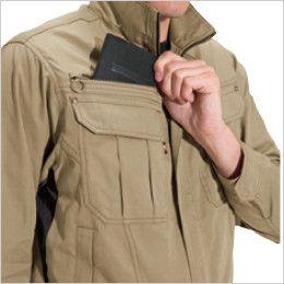 バートル 6091 [秋冬用]ソフトツイルジャケット(男女兼用)  レベルブック収納ポケット
