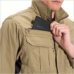 バートル 6101 [春夏用]T/Cライトチノジャケット(男女兼用)  レベルブック収納ポケット