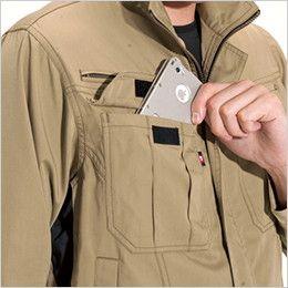 バートル 6101 [春夏用]T/Cライトチノジャケット(男女兼用)  Phone収納ポケット