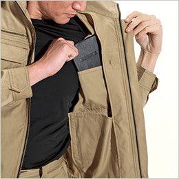 バートル 6101 [春夏用]T/Cライトチノジャケット(男女兼用)  内ポケット