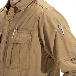 バートル 8035 チノクロス長袖シャツ(綿100%)(男女兼用) ペンさし