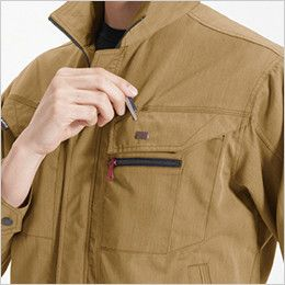 バートル 8051 ヴィンテージソフトツイルジャケット(男女兼用) ペンさし