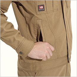 バートル 8091 [春夏用]綿100%ライトチノジャケット(男女兼用) 逆玉ポケット