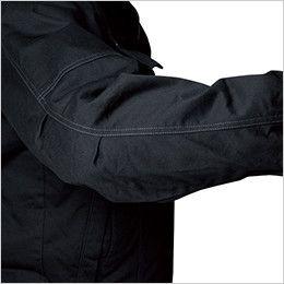 バートル 8110 チノクロス防寒ジャケット(大型フード付)綿100%(男女兼用) アームタック