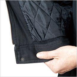 バートル 8110 チノクロス防寒ジャケット(大型フード付)綿100%(男女兼用) 丸洗いウォッシャブル水ヌキ仕様