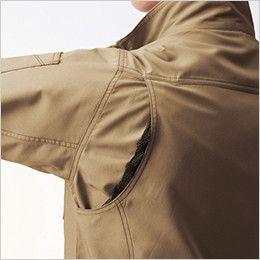 バートル 9086 [春夏用]ストレッチエアリークロス半袖ジャケット(男女兼用) 背アームノーフォークメッシュ