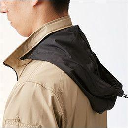 バートル AC1111 エアークラフト[空調服]長袖ジャケット(男女兼用) ポリ100% 収納式フード(スピンドル付き)(全色ブラック)