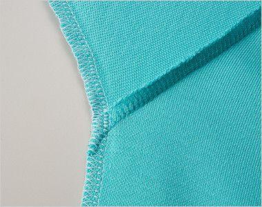 ドライCVCポロシャツ(5.3オンス)(男女兼用) 下袖と脇下に消臭糸を縫製糸として使用