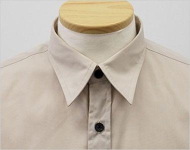 EP-7618 チトセ(アルベ) ブロードシャツ/七分袖(男女兼用) 定番のレギュラーカラー