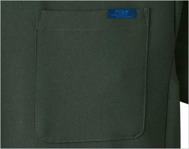 7013SC FOLK(フォーク) 国境なき医師団 スクラブ(男女兼用) FOLKピスネーム付きポケット