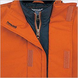 自重堂 48343 シンサレート防水防寒コート(フード付き・取り外し可能) 防水折り返し仕様