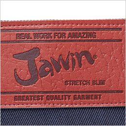 自重堂 52602 JAWIN ストレッチノータックカーゴパンツ ロゴ入り革ラベル(人口皮革)