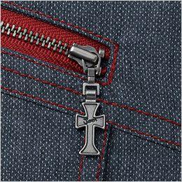 自重堂 56404 [春夏用]JAWIN 長袖シャツ(新庄モデル) ポケットファスナーロゴ入りスライダー