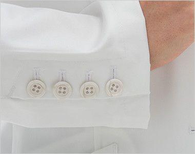 [送料無料]FD4040 ナガイレーベン(nagaileben) シングル診察衣長袖(Y体・細身)(女性用) 高級感・品格のある4つのボタンの袖