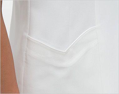 FY4582 ナガイレーベン(nagaileben) フェルネ ナースジャケット(女性用) ハート型のかわいい脇ポケット