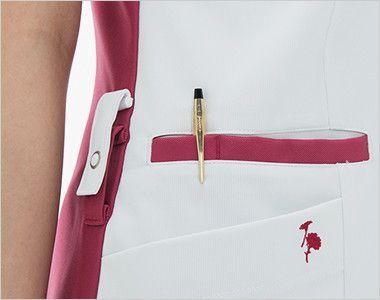 LX4082 ナガイレーベン(nagaileben) エルエックス チュニック(女性用) 収納力が豊富な多機能ポケット