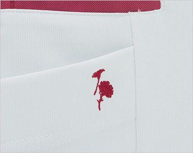 LX4082 ナガイレーベン(nagaileben) エルエックス チュニック(女性用) 右脇ポケットに花の刺繍