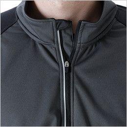 4235 TS DESIGN [秋冬用]ラミネートロングスリーブジップシャツ(男女兼用) フロントファスナー