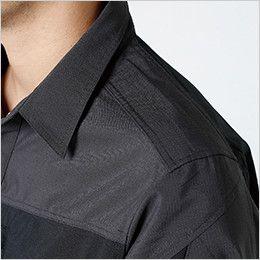 84605 TS DESIGN ハイブリッドストレッチシャツ(男女兼用) 肩補強