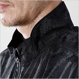 8716 TS DESIGN Fフラッシュロングスリーブジャケット(男女兼用) 衿部分を閉めても首に当たりにくくて快適