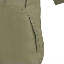 ジーベック 1351 [春夏用]プリーツロン綿100%半袖ブルゾン ポケット付き