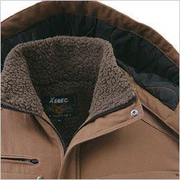 ジーベック 212 綿100%防寒ブルゾン 襟ボア 衿ボア付き