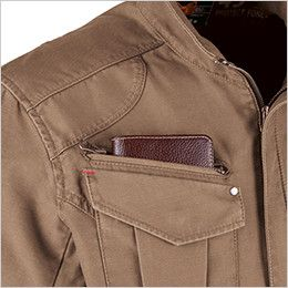 ジーベック 2140 バックツイル長袖ブルゾン(綿100%) ファスナーポケット
