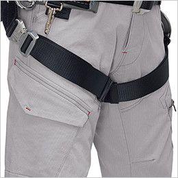 ジーベック 2296 [春夏用]現場服ストレッチカーゴパンツ フルハーネス対応 フルハーネルをしていても使いやすいカーゴポケット