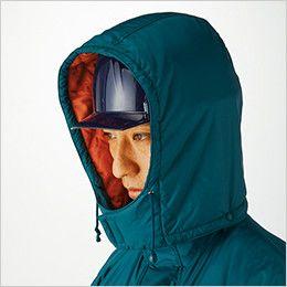 [在庫限り/返品交換不可]ジーベック 551 防水透湿防寒コート ヘルメット対応(フード取り外し可能)