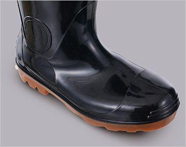 ジーベック 85707 耐油安全長靴 スチール先芯 パーツの貼り合わせがないPVCインジェクション製法での成型なので水漏れの心配がありません。