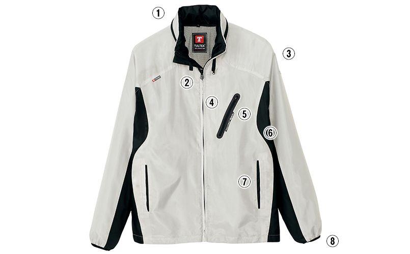 AZ10301 アイトス タルテックス フードインジャケット(薄地素材)(男女兼用) 商品詳細・こだわりPOINT