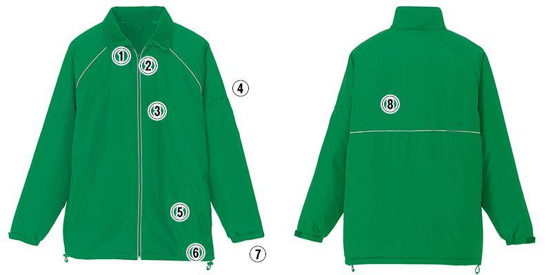 AZ2203 アイトス リフレクト裏フリースジャケット(男女兼用) 商品詳細・こだわりPOINT