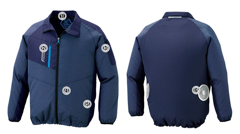 AZ50199 アイトス タルテックス [春夏用]空調服 長袖ジャケット(男女兼用) ポリ100% 商品詳細・こだわりPOINT