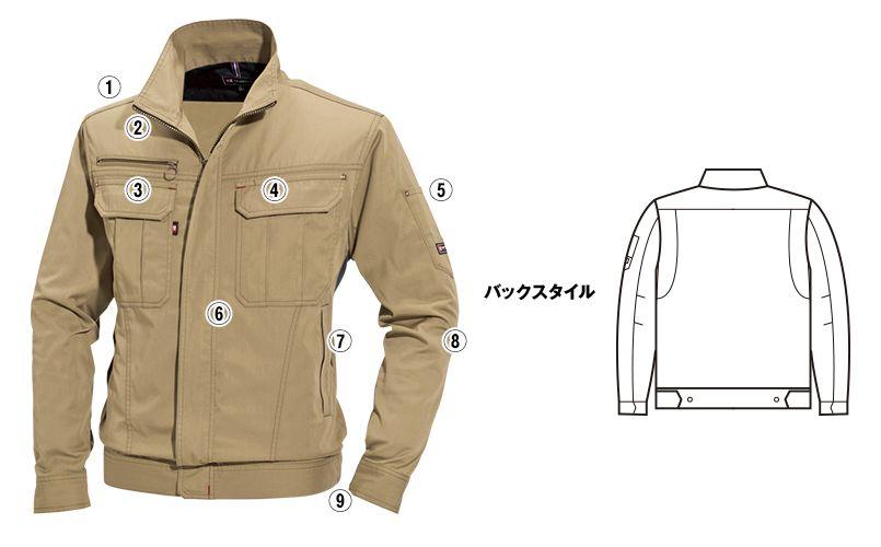 バートル 6101 [春夏用]T/Cライトチノジャケット(男女兼用) 商品詳細・こだわりPOINT