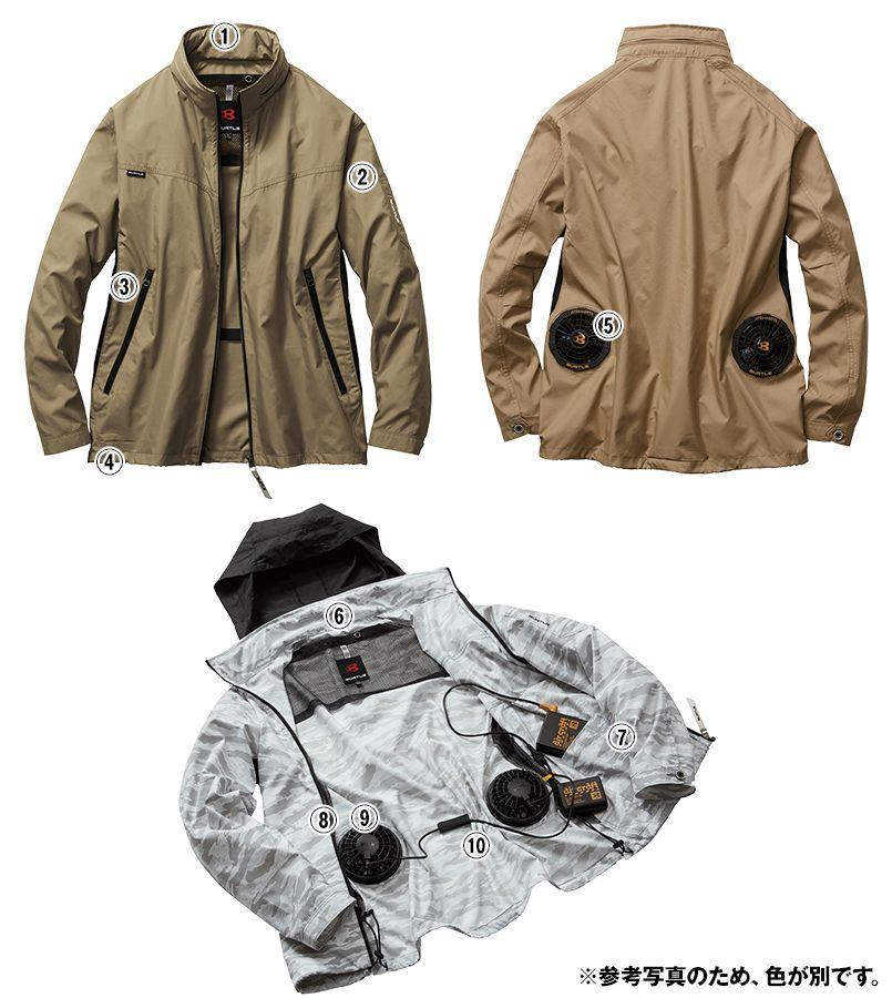 バートル AC1111 エアークラフト[空調服]長袖ジャケット(男女兼用) ポリ100% 商品詳細・こだわりPOINT