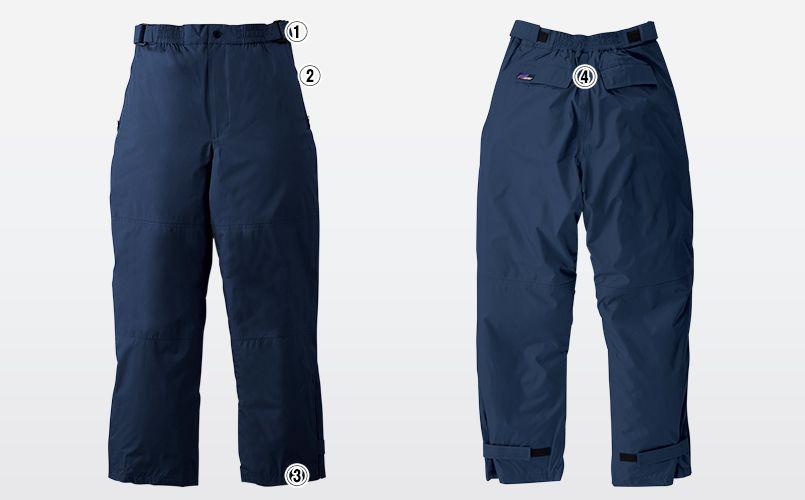 2809 桑和 防水防寒パンツ 商品詳細・こだわりPOINT