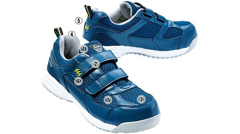 ジーベック 85112 メッシュ静電安全靴 樹脂先芯 商品詳細・こだわりPOINT