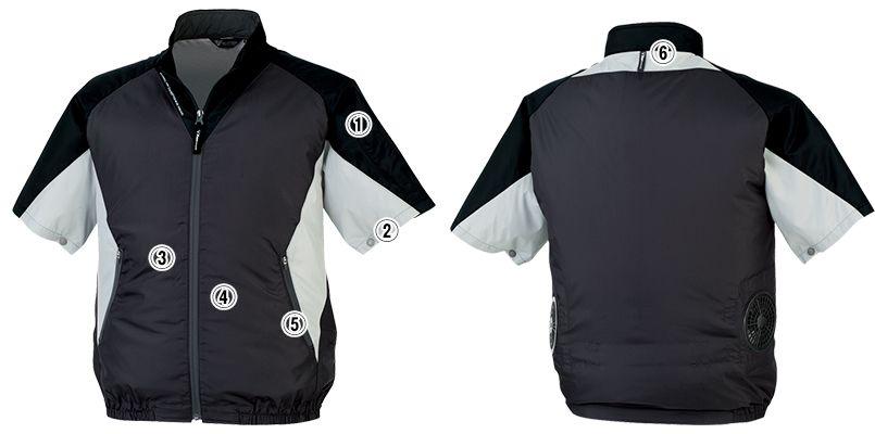 ジーベック XE98009SET [春夏用]空調服セット 半袖ブルゾン ポリ100% 商品詳細・こだわりPOINT