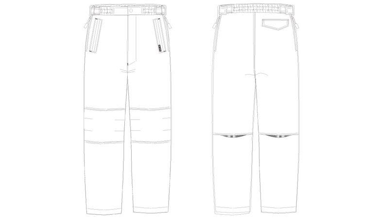 AZ10306 アイトス タルテックス リフレクションヒート防寒パンツ ハンガーイラスト・線画
