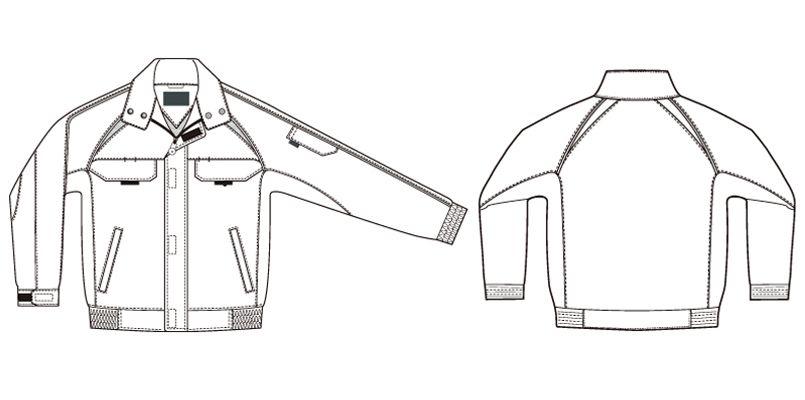 AZ1701 アイトス エコワーカー・フォレスト 長袖ブルゾン ハンガーイラスト・線画