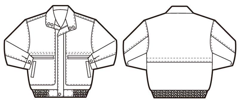 AZ710 アイトス カラーブルゾン ハンガーイラスト・線画