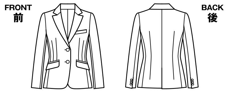 BONMAX AJ0226 [通年]アウトラスト2 ジャケット ストライプ ハンガーイラスト・線画