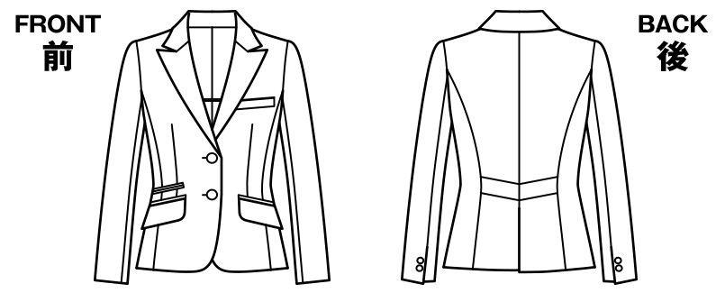 BONMAX AJ0244 [通年]プログレス ジャケット ストライプ[温度調整機能素材] ハンガーイラスト・線画