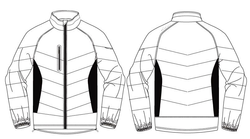 バートル 7310 背面マイクロフリース防寒ジャケット(男女兼用) ハンガーイラスト・線画