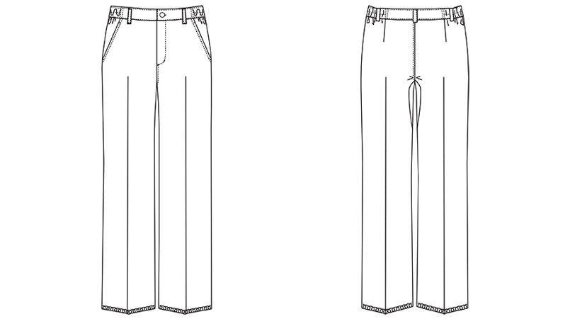 MZ-0152 ミズノ(mizuno) パンツ(女性用) ハンガーイラスト・線画