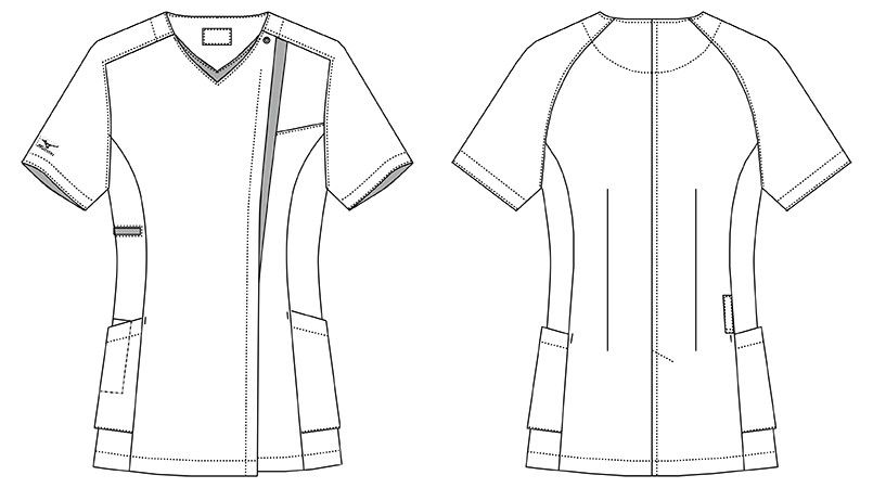 MZ-0163 ミズノ(mizuno) ジャケット(女性用) ハンガーイラスト・線画